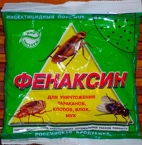 Medios insecticidas en polvo de cucarachas, insectos, moscas y pulgas Fenaksin