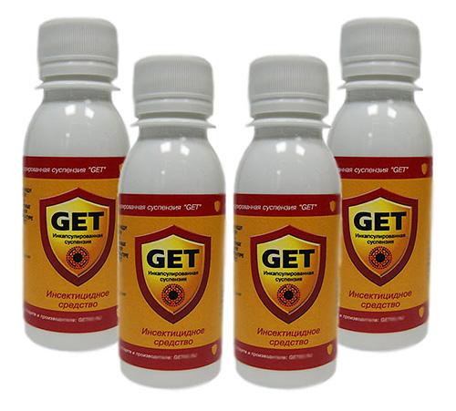 Es mejor combinar el tansy con cualquier insecticida moderno, por ejemplo, con un repelente de insectos Get.