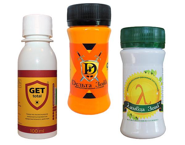 Muchos concentrados de insecticida están adaptados para uso doméstico y se venden en paquetes pequeños.