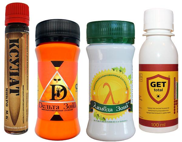 Los concentrados de insecticidas modernos (para dilución y posterior fumigación), especialmente los microencapsulados, son muy efectivos contra los piojos de la madera.