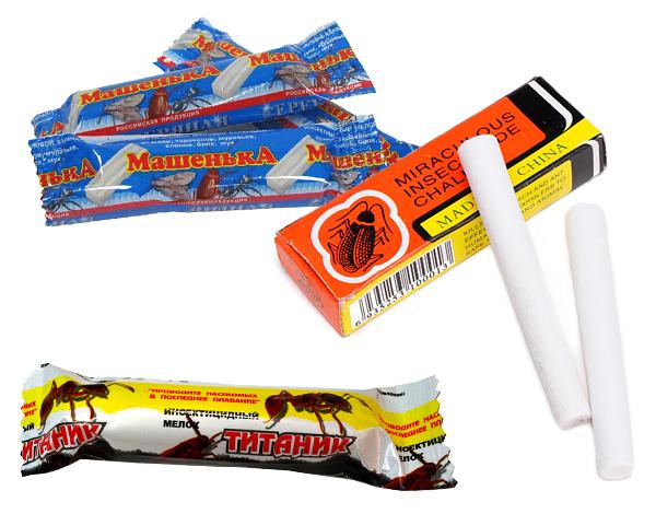 No es malo ayudar a los lápices repelentes de insectos (crayones), de los cuales el lápiz de las cucarachas de Masha es más conocido, ayuda a destruir los insectos de madera.