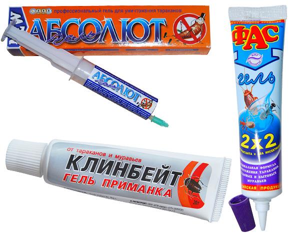 Geles utilizados en la lucha contra las cucarachas y las hormigas en la casa, también es eficaz contra la madera.