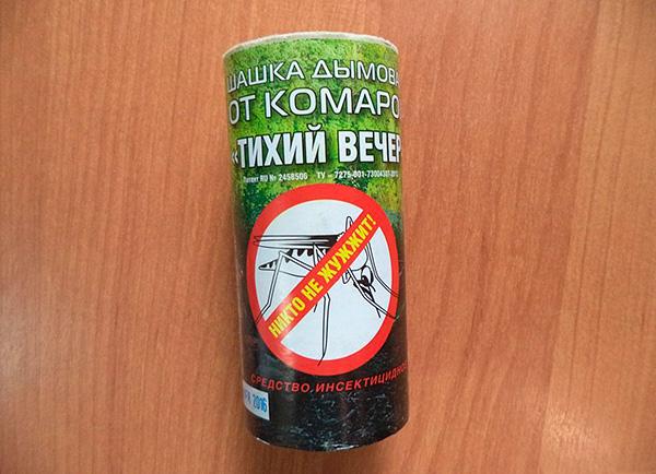Bomba de humo insecticida de mosquitos. Noche tranquila (basada en permetrina).