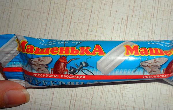 Con el uso adecuado del lápiz insecticida, Masha es bastante seguro para los humanos.