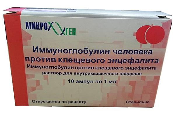 Inmunoglobulina humana contra la encefalitis transmitida por garrapatas.